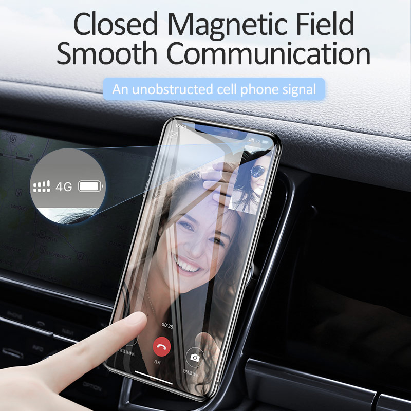 Image 4 - USAMS Magnetic Car Phone Holder Car Magnet Holder Air Vent Mount Cell Phone Stand mobile Phone Holder for iPhone Xiaomi Huawei-in Phone Holders & Stands from Cellphones & Telecommunications