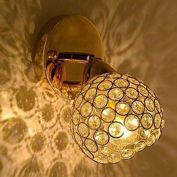 Умный Хрустальный настенный светильник для прихожей, спальни, балкона, настенные бра с регулируемым углом, коридорные Настенные светильник...