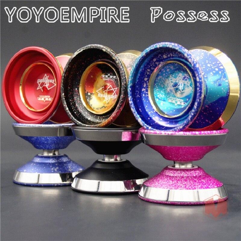 Nouvel arrivage EMPIRE possède YOYO anneau bimétallique coloré yo-yo métal Yoyo pour professionnel yo-yo joueur métal yoyo classique jouets