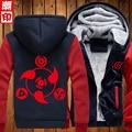 Новый Наруто Толстовка Аниме Узумаки Наруто Саске Косплей Пальто Зимняя Куртка Мужчины Толщиной Молнии Световой Кофты США Размер