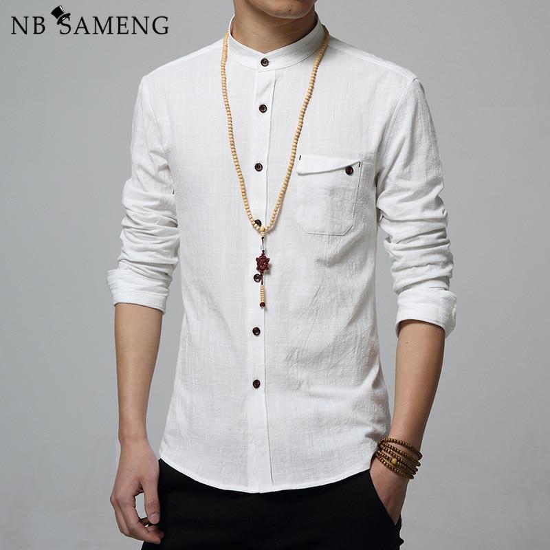 Online Get Cheap Linen White Slim Fit Shirts -Aliexpress.com ...