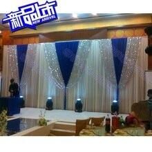 3 м* 6 м Свадебные принадлежности Свадебные блестки сцена занавес свадебный фон Mariage украшение составной сценический фон