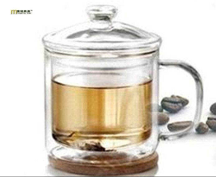 1PC LONGMING HOME New arrival hot selling double glass jar retro classic large heat-resistant glass tea <font><b>cup</b></font> 400ml <font><b>JO</b></font> 1047