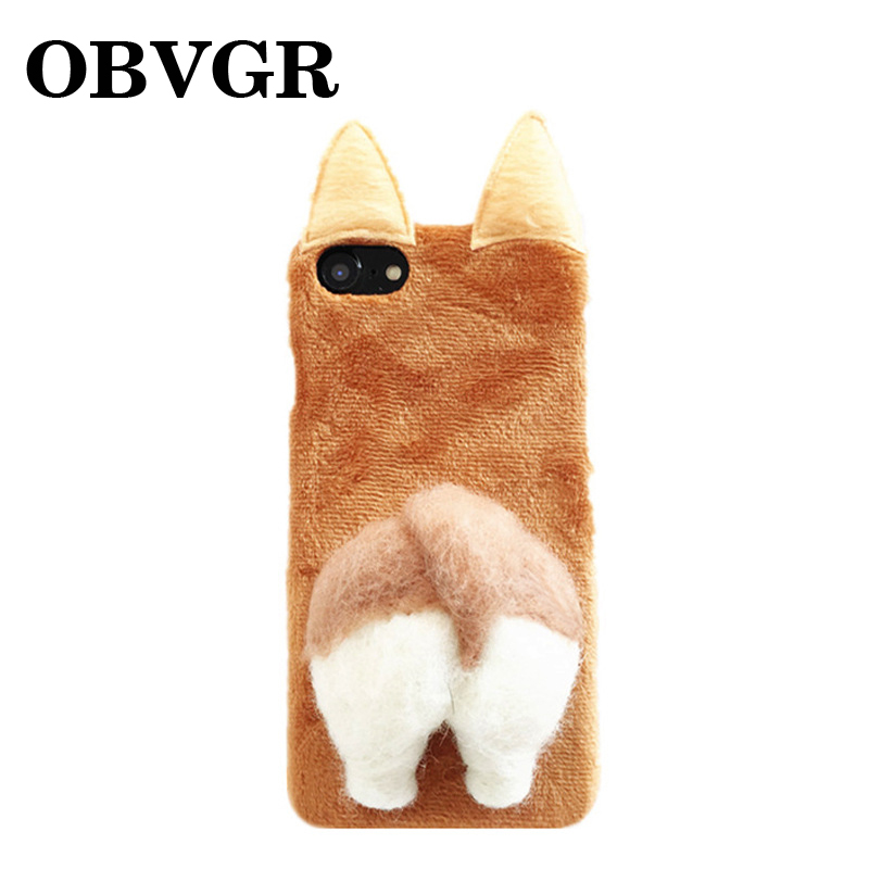 100% Quality Korean Corgi Ass Phone Case For Iphone Xs Xs Max Xr Capa Plush Back Cover For Iphone X 8 7 6 Plus Coque For Oppo R9s R11s Plus Fashionable And Attractive Packages
