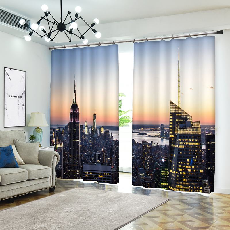 High-rise on The River Bank 3D Curtains for Living Room Window Treatments Modern Curtains Beding Room High-precision ShadeHigh-rise on The River Bank 3D Curtains for Living Room Window Treatments Modern Curtains Beding Room High-precision Shade
