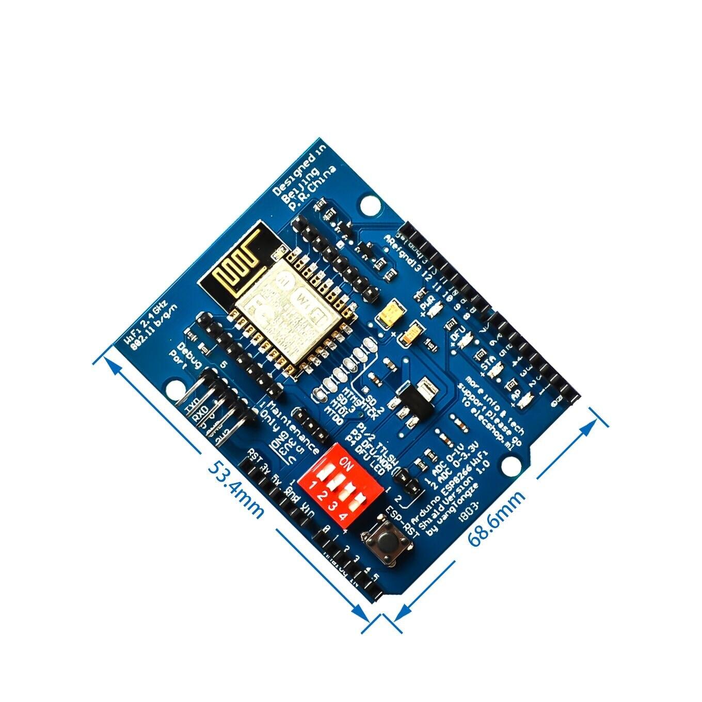Esp8266 ESP-12 ESP-12E uart wi fi placa de desenvolvimento escudo sem fio para arduino mega uno r3 módulo mega 3.3v 5v interface ttl um