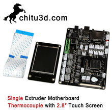 Chitu 3D Printer Motherboard Chitu V3.9 Single Extruder Motherboard Thermocouple with 2.8″ Touch Screen Support WiFi APP Control