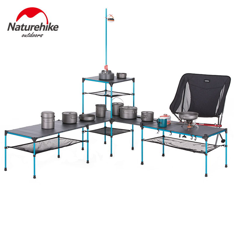 Us 10 0 20 Off Naturehike Outdoor Free Splicing Folding Table Portable Ultralight Changeable Camping Picnic Bbq Dinner Party In Tools