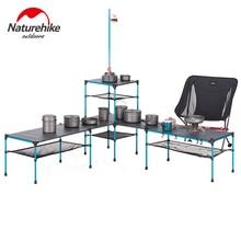 Naturehike al aire libre empalme plegable Mesa portátil ultraligera cambiable Camping Picnic BBQ mesa de fiesta de cena