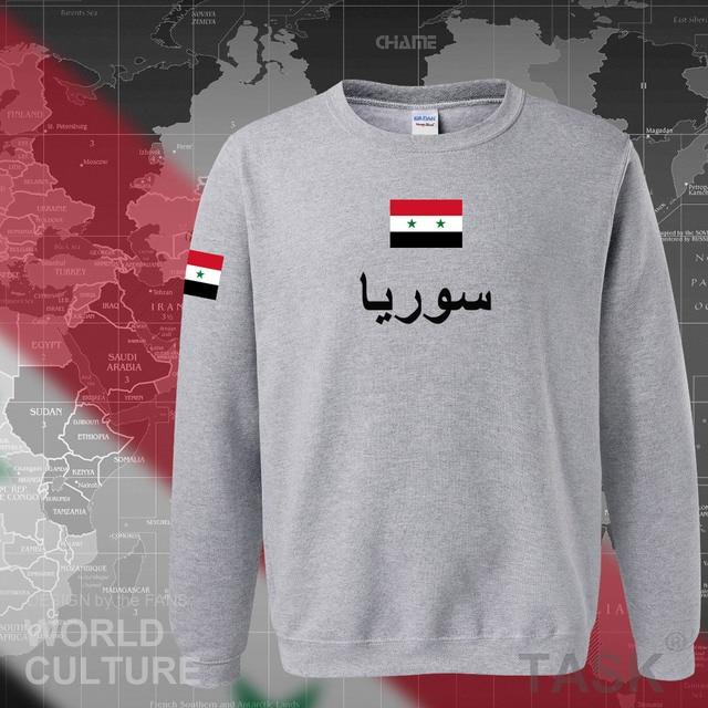 Syrian Arab Republic Syria hoodies men sweatshirt sweat new hip hop streetwear tracksuit nation footballer sporting SYR Arabic 5