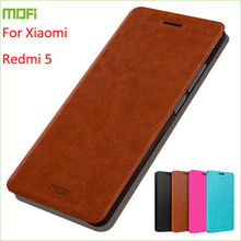 New For Xiaomi Redmi 5 Case MOFI Stand High Quality Flip Leather Cover 5.7