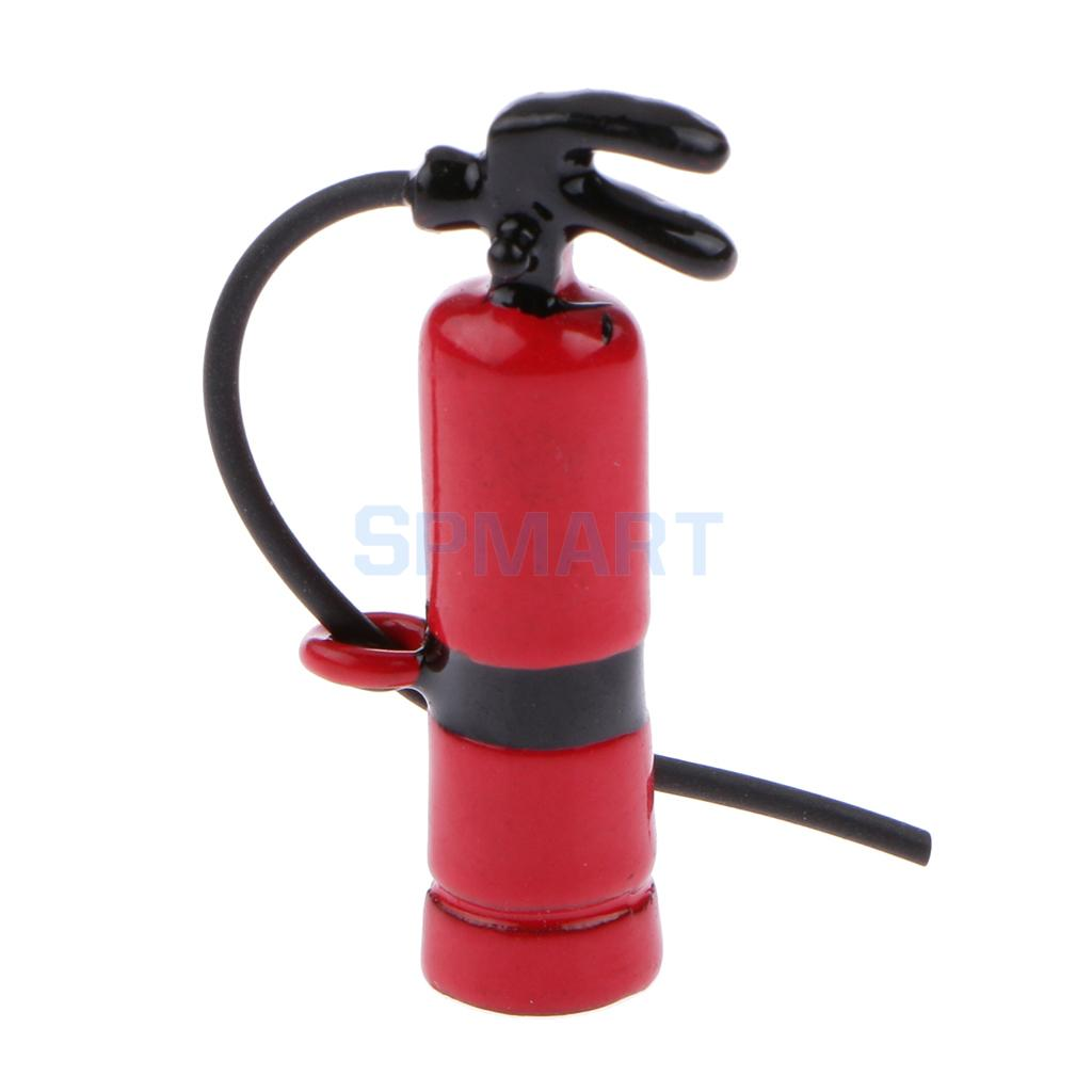 Dollhouse Miniature Red Fire Extinguisher Trolley for 1:12 Scale Doll House
