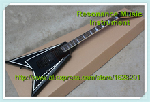 Custom Shop Schwarz Top ESP Flying V E-gitarre China Alexi Scythe Unterschrift ALEXI-600 Scythe Gitarre Körper & Kit Verfügbar