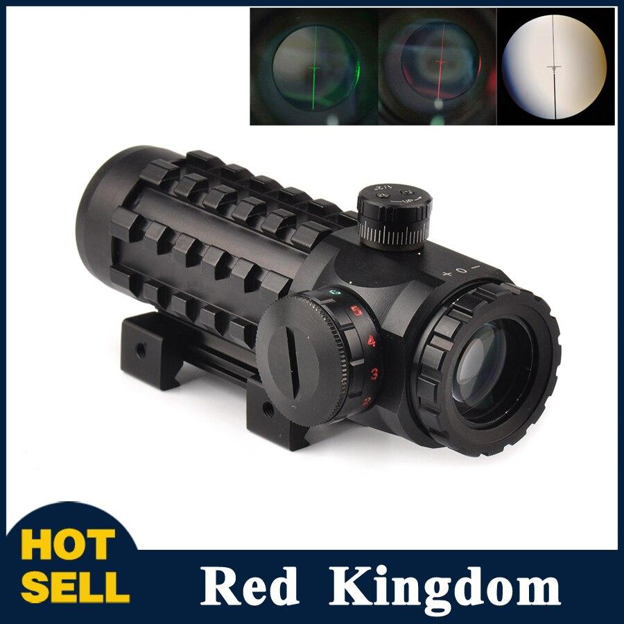4x28 Optical Sight Scope Red/Green Reticle Riflescope Sight Multi-coated Fit 20 mm/<font><b>11mm</b></font> Rail Base for Hunting Riflescopes