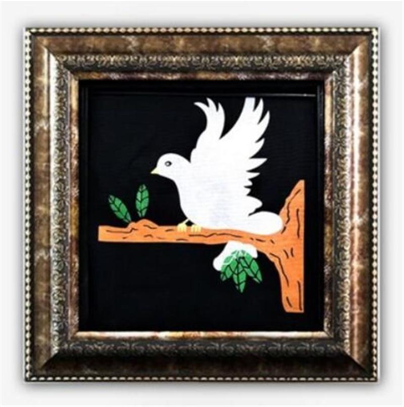 Delux Dove картина настоящий магический голубь трюки, появляющийся голубь в раме профессиональный маг сценическая иллюзия, трюк, реквизит аксес...