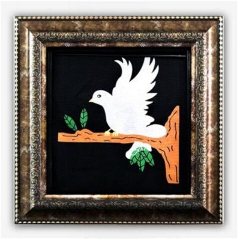 Delux colombe image à la vraie colombe tours de magie apparaissant colombe cadre professionnel magicien scène Illusion Gimmick accessoires