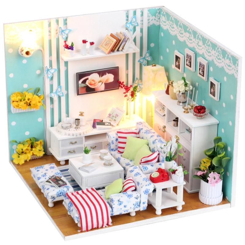 gifts new brand diy doll houses wooden doll house unisex dollhouse