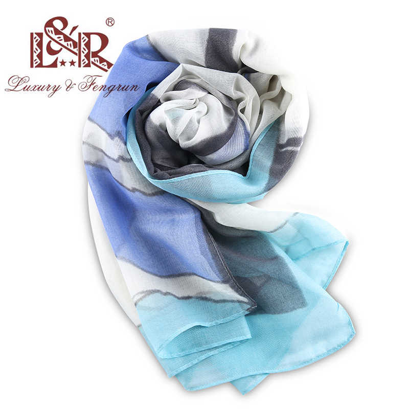 ... 2018 Women Summer Plaid Scarves for Women Chiffon Silk Scarf Foulard  Femme Sjaal Polyester Female Shawls ... 86d6c144486