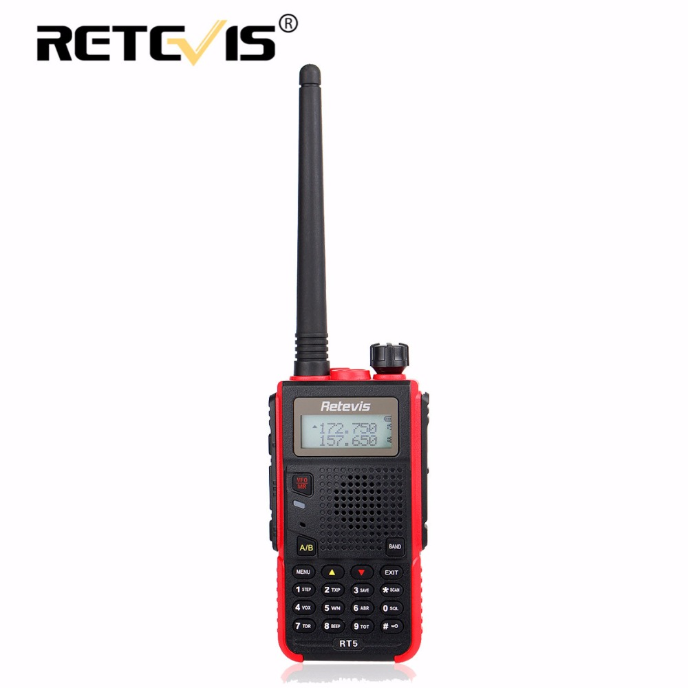 Retevis RT5 Walkie Talkie 7W 128CH VHF UHF Dual Band VOX FM Radio Scanner Amateur cb Radio Station Communicator Hf Transceiver