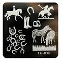 New Arrival timbri unhas DIY Nail Art Image Stamp Stamping Plates Manicure Template unha placa de imagem Anne