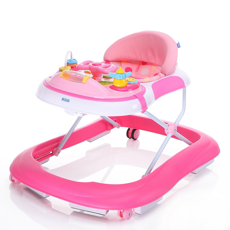 New Design Baby Walker Multifunctional Music Plate U Type Folding Easy Anti-rollover Safety Scooter Baby Walkers Portable Carry new design baby walker multifunctional music plate u type folding easy anti rollover safety scooter baby walkers portable carry