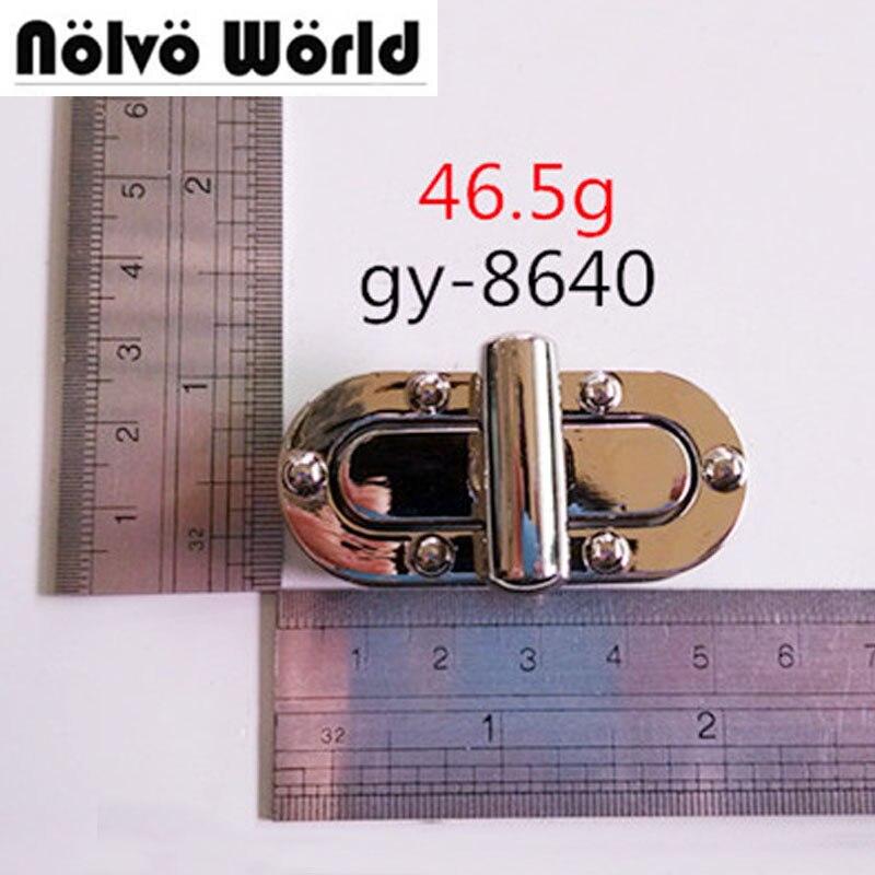 10sets Silver tone rectangle twist lock purse snap clasps closure purse handbag sets metal turnlock wholesale