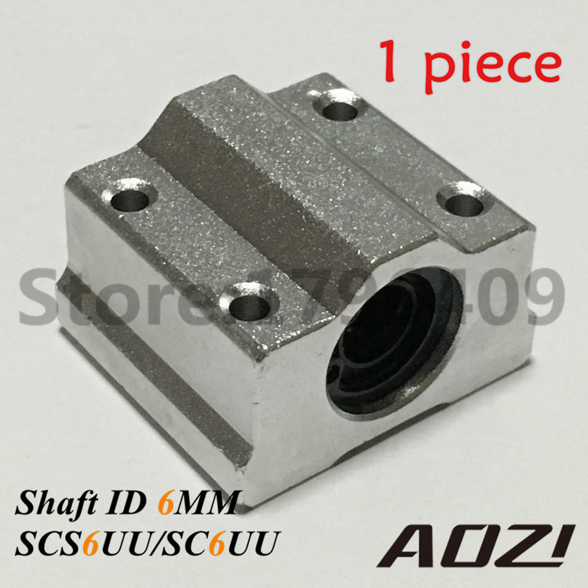SCS6UU/SC6UU 6mm Linear Optical Axis Box Style Linear Motion Ball Slide Units For CNC Router scv25uu slide linear bearings aluminum box type cylinder axis scv25 linear motion ball silide units cnc parts high quality