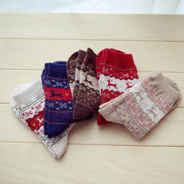 3 Pairs Reindeer Christmas Socks