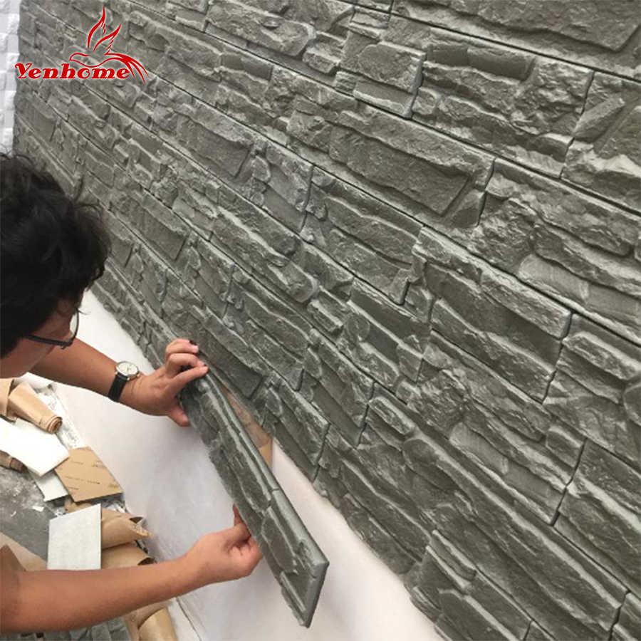 Autocollants muraux en pierre de brique, décor de fond de la chambre à coucher TV du salon, autocollant mural en 3D, papier peint autocollant étanche pour la chambre des enfants