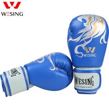 Wesing Pro Grade Boxing Gloves For Women And Men, Kickboxing Bagwork Gel Sparring Training Gloves Muay Thai  8-16OZ
