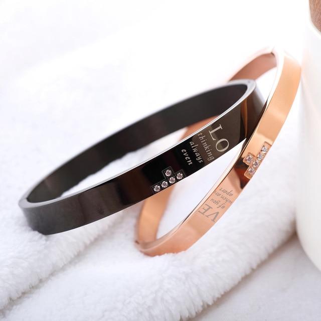 Браслеты из титановой стали браслеты с надписью Любовный пазл
