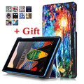 With Tracking For Lenovo Tab 3 730F 730M 730X 7 inch tablet funda cases TB3-730F TB3-730M Color Painted Leather Case Flip Cover
