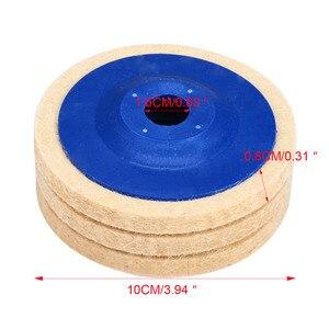 Image 4 - 3pcs 4 Inch Wool Polishing Pads Buffing Angle Grinder Wheel Felt 100mm Polishing Disc Pad Set Useful Abrasive Tools
