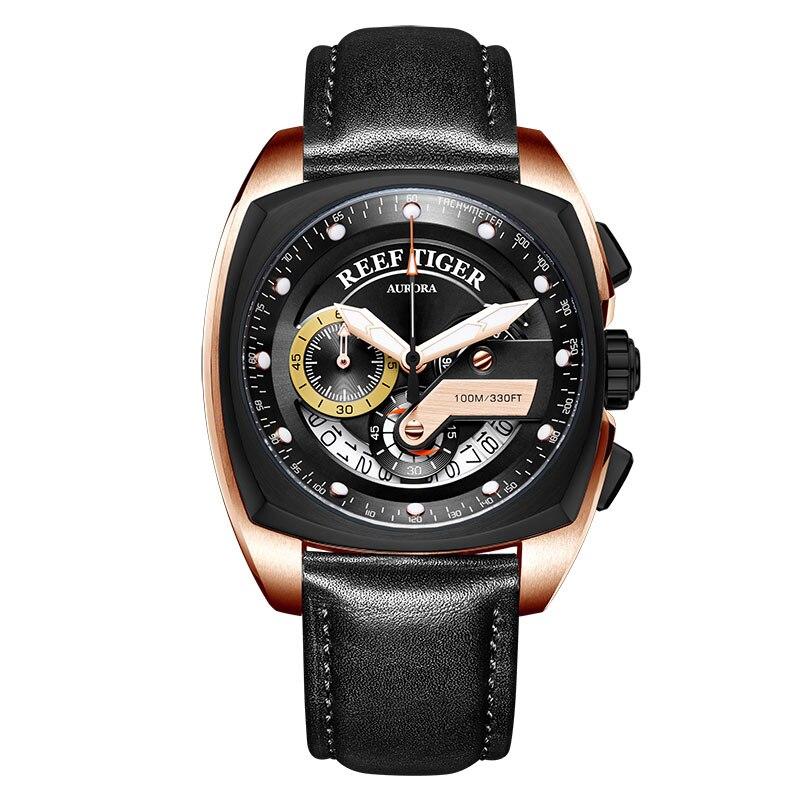 Récif tigre/RT nouvelle montre de Sport de mode hommes chronographe montres à Quartz montre militaire étanche relogio masculino 2018 RGA3363