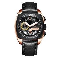 Reef Tiger/RT новые модные спортивные мужские часы, Хронограф военные кварцевые часы водонепроницаемые relogio masculino 2019 RGA3363