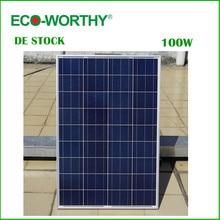 DE Stock Aucun Impôt 100 W 18 V Polycristallin Panneau Solaire pour 12 v Batterie hors Réseau Système Solaire pour La Maison Système de Livraison gratuite