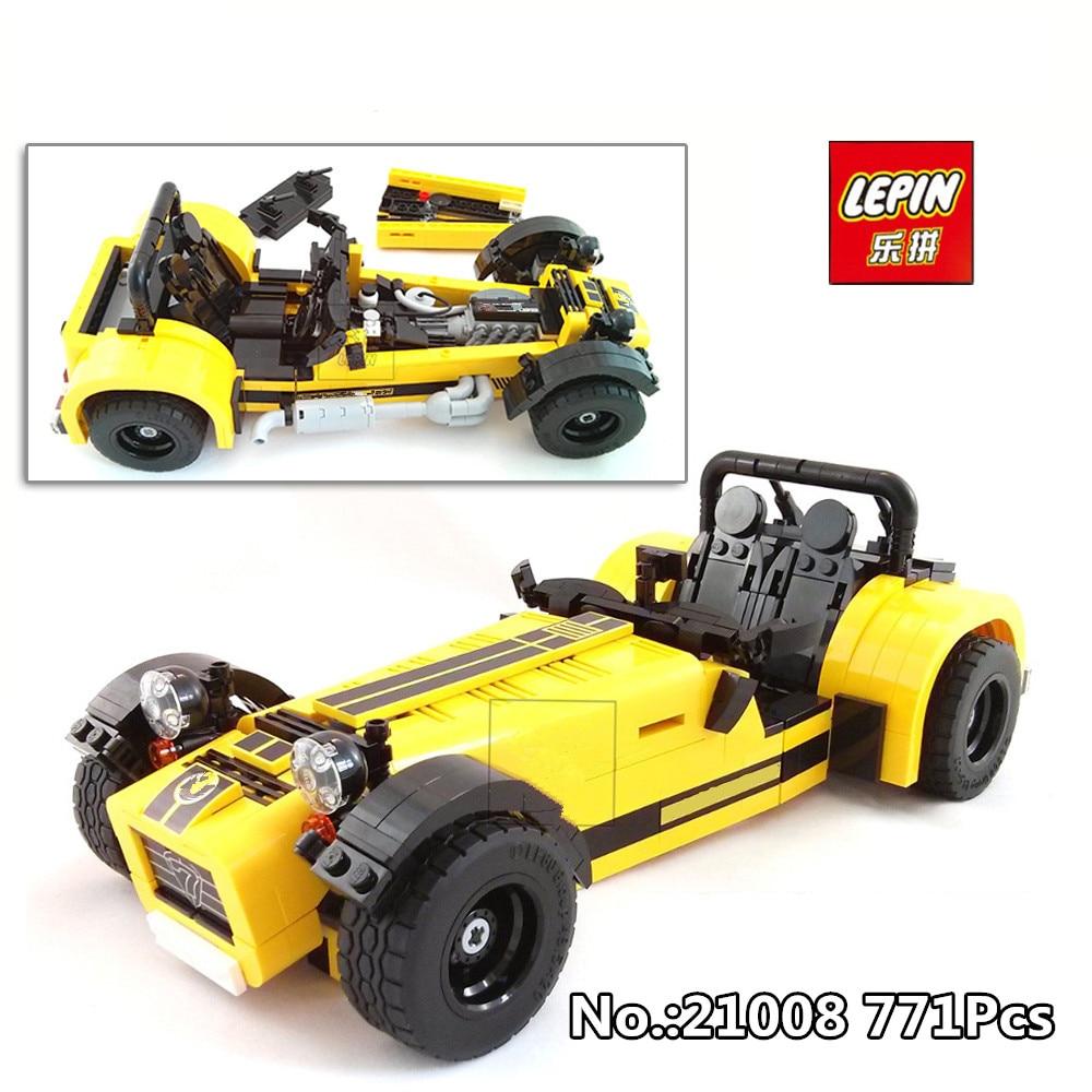 В наличии Лепин 21008 техника серии 771 шт. в Caterham классический 620R гоночный автомобиль набор модель строительные блоки кирпичи 21307 игрушка