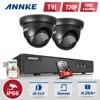 ANNKE 4CH HD TVI 1080N DVR 1500TVL Outdoor IR Day Night Security Cameras P2P Video Surveillance