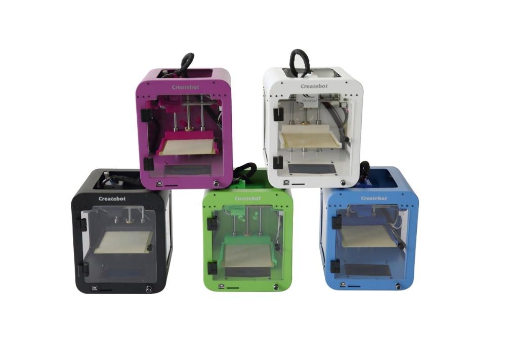 HOT 3d printer Childrens gift impressora 3d createbot new design metal impresora 3d Schools 1.75mm PLA filament printer 3d