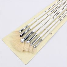 6pcs/Set, sector oil Painting Brush pig 's bristles Hair artist Drawing Art Supplies painting brushes oil painting Drawing brush(China)