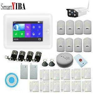 SmartYIBA App Удаленная Беспроводная система сигнализации Домашняя безопасность Wifi камера наружная Жилая сигнализация RFID видео дверь телефон PET ...