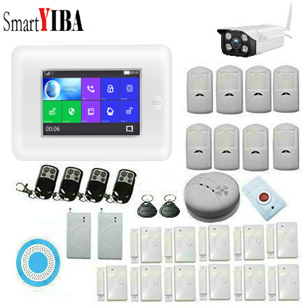 SmartYIBA App Remote Wireless Alarm System Home Security Wifi Camera Outdoor Residential Alarm RFID Video Door Phone PET PIR image
