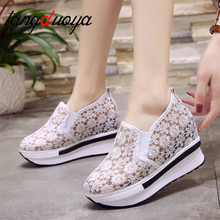 2020 Spring Summer Hole Shoes Woman Flat Platform Women