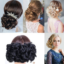HidolA  2 Plastic Comb Hair Clip in Chignon Wedding Synthetic Extension Hairpiece Bun Accessorie
