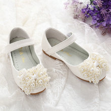 Pearl Children's Shoes Girls Leather Shoes Soft Flats Comfort Casual Princess Shoes Toddler Infant Baby Girl Shoes Half Sandals