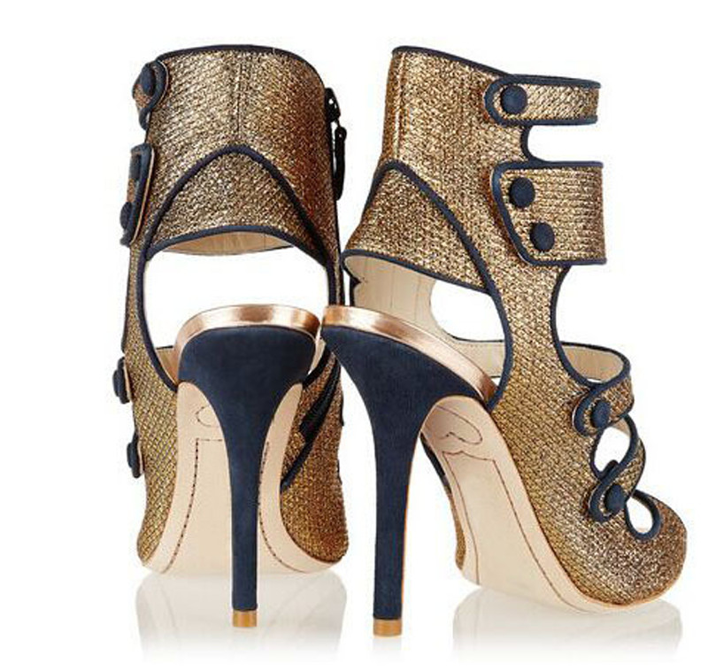 Concise Style Peep Toe Buckle High Heels Women Sandals Mixed Colors Thin High-heeled Shoes Women Party Shoes Sandalias Mujer lady s pumps high thin heel spike heels mixed colors metal buckle elegant concise women wedding shoes 2015 high heels