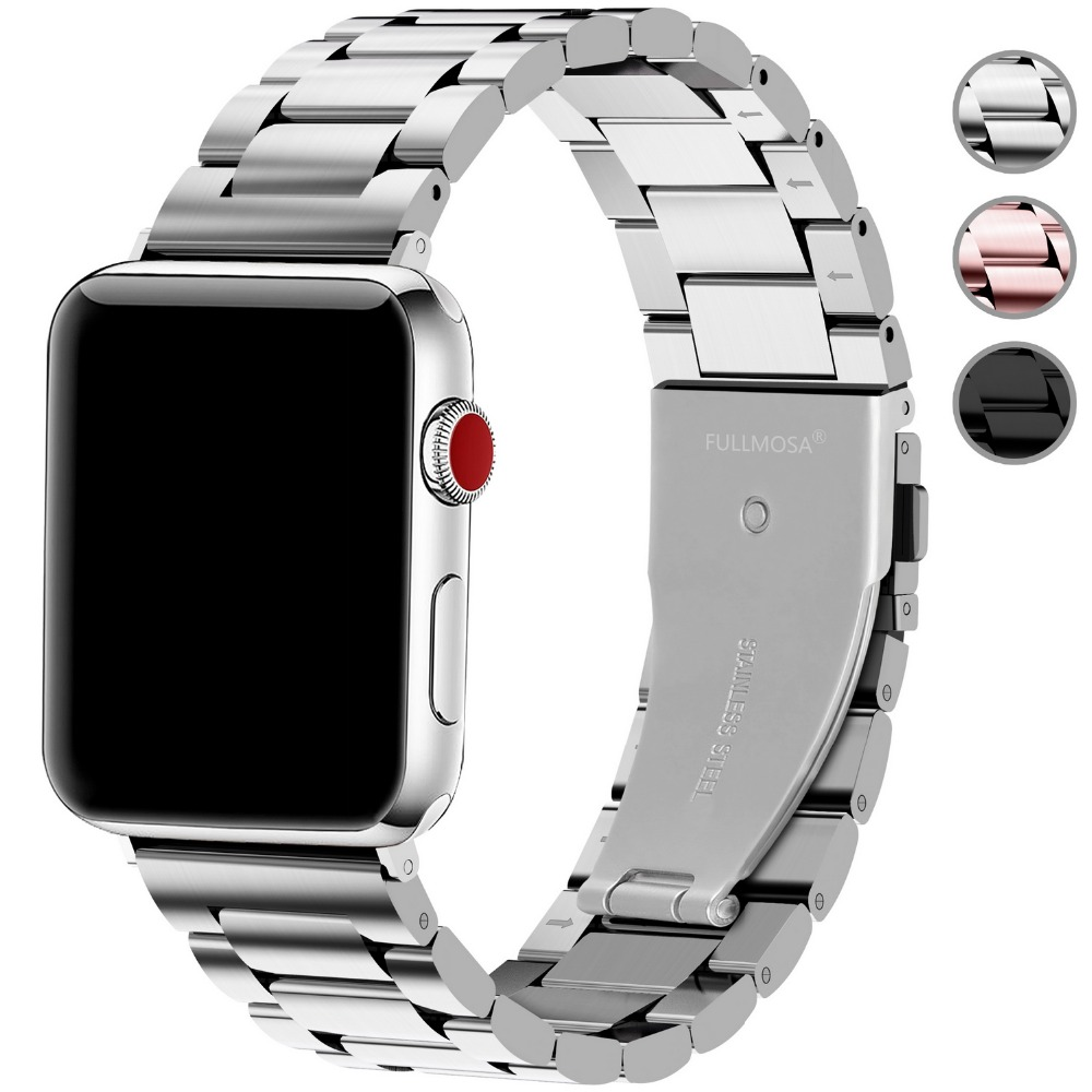 For Apple Watch Band Series 4 3 2 Smart Watches Stainless Steel Iwatch Strap 44mm 42mm 40mm Jewelry & Watches