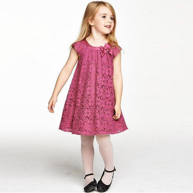 ᗛNueva llegada bebé niños niña Encaje princesa encantadora vestido ...