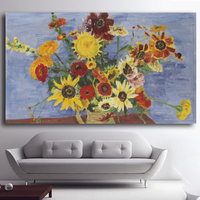 Hot Sell Herbstblumen Abstract Classical Flower Wall Painting Modern Canvas Painting Wall Art Prints Living Room
