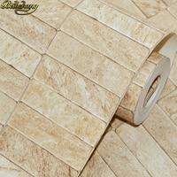 beibehang 3D waterproof Stone Wallpaper For Walls Brick Wall Paper Rolls Living Room Bar Restaurant hotel home improvement